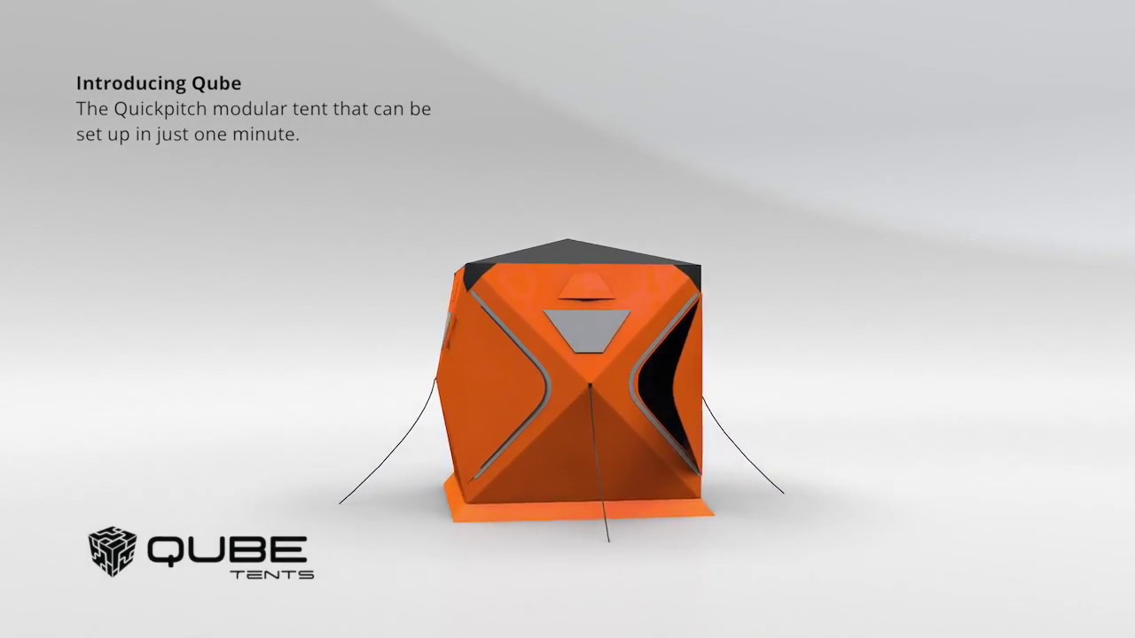 Qube Tents - The Quickpitch modular c&ing tent & Qube Tents - The Quickpitch modular camping tent - YouTube