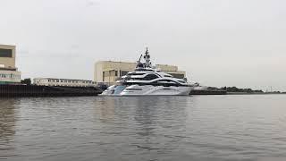 Luxusyacht angelegt Luerssen Werft