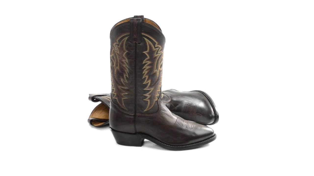 Tony Lama Calfskin Cowboy Boots - Round Toe (For Men) - YouTube
