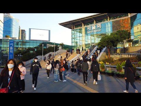 서울역 - Walking around Seoul Station, Seoul, Korea