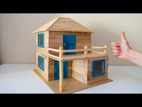 Amazing Mini Wood Brick House - Ahşap Bloklardan Harika bir Ev Yapımı