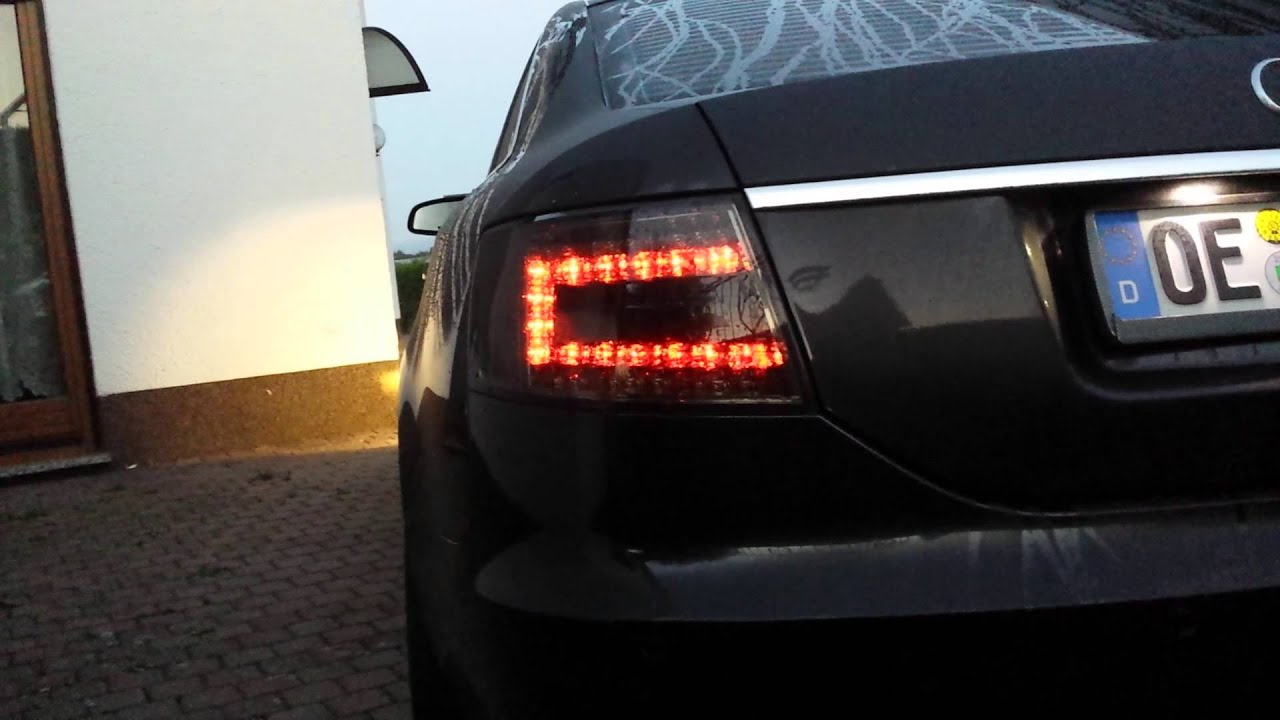Led r ckleuchten audi a6 4f smoke youtube for Audi a6 4f interieur