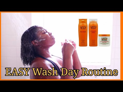 Natural Hair Wash Day Routine: Cantu Shea Butter Products