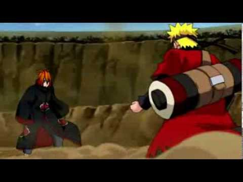 Naruto  vs pain skillet hero