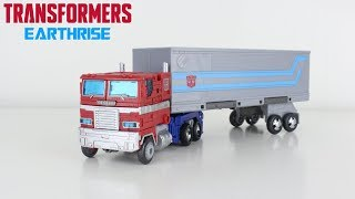 transformers Earthrise Leader Class Optimus Prime Review