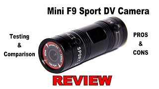 REVIEW: Mini F9 Sport DVR Bullet Style Camera by GordVE. In-Depth hands onTesting and Comparison.