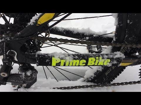 Зимой на велосипеде!