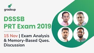 DSSSB PRT 15 Nov: Overall Exam Analysis & Memory-based Question Discussion