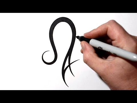 How to Combine Leo Symbol with Letter A - Tattoo Design