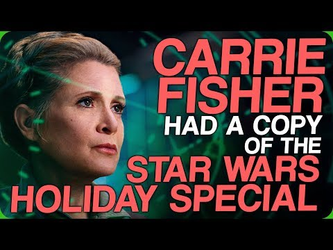 Carrie Fisher Had A Copy Of The Star Wars Holiday Special (Discussing The Sonic The Hedgehog Movie)