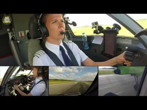 Captain Marina PERFEC Dash 8 Q400 Landing!!! Air Baltic in Hamburg, RARE Runway 33! [AirClips]