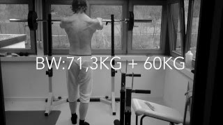 Chris Staiger Bodytransformation Day 16 Breathing Squats 60kg 40 Reps Time Lapse