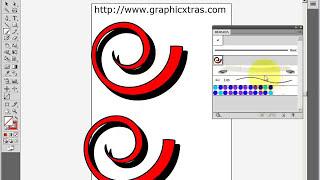 Convert photoshop brushes to Illustrator brushes - trace tutorial (CS5 CS4 etc) (swirls)
