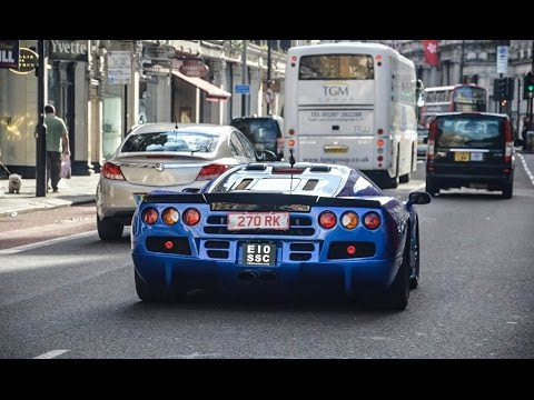 Supercars in the city- SSC Ultimate Aero, Bugatti Veyron, Ford GTs, F40