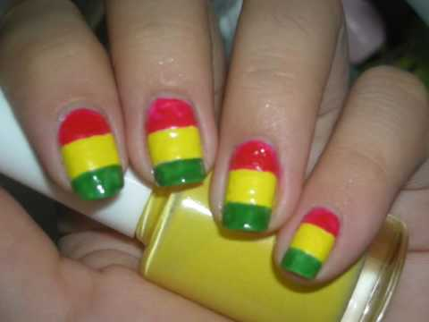 - Nail Design Tutorial: Girly Rasta Nails - YouTube