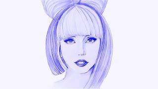 Как нарисовать портрет ЛЕДИ ГАГИ акварелью.How to Draw Lady Gaga | Art School