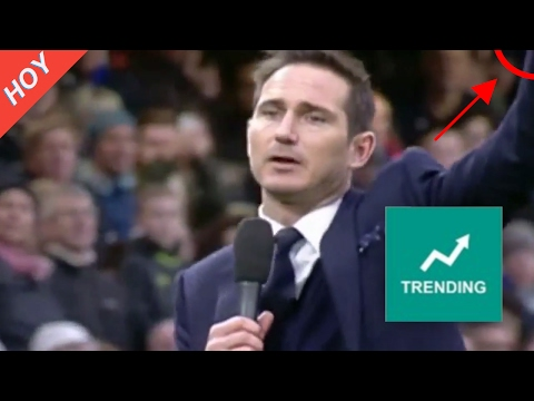 Lampard says goodbye to Chelsea Fans | Chelsea vs Swansea 3 1 [2017]