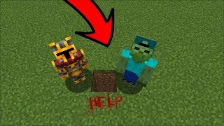 DON'T DIG STRAIGHT DOWN IN MINECRAFT !! DANGEROUS MONSTERS INSIDE !! Minecraft Mods