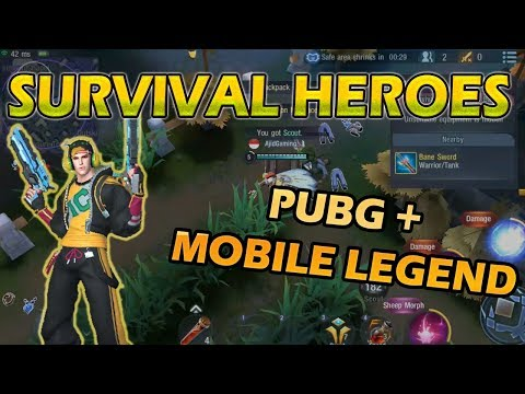 PUBG + Mobile Legend = Survival Heroes | MOBA BATTLE ROYALE Gameplay