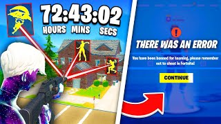 I Tested How L๐ng It Takes To Get BANNED in Fortnite..