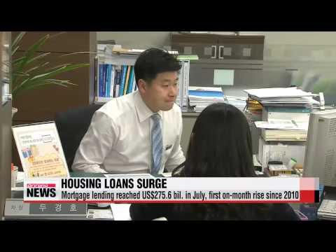 Housing loans increase in July, despite low summer season   비수기 7월에도 주택담보대출 3조원
