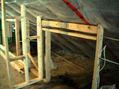 how to build a knee wall in attic