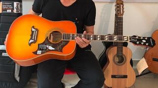[Review]Guitar Epiphone Dove chính hãng giá 7tr7 tích hợp sẵn Pickup