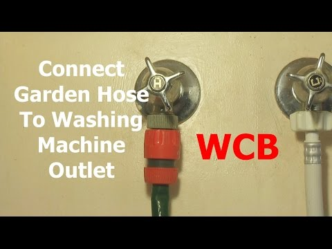 connect garden hoses to washing machine hot water outlet. Black Bedroom Furniture Sets. Home Design Ideas