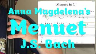 Minuet in C JS BACH Cello Lesson EASY
