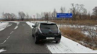 Электрокар зимой, ВСЯ ПРАВДА, сколько км, на полном заряде