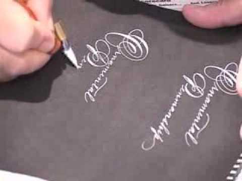 Michael Sull: Spencerian Script and Ornamental Penmanship II - YouTube