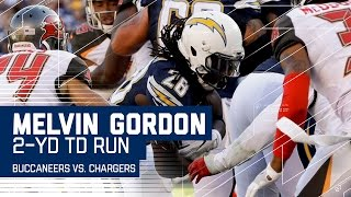 Melvin Gordon Scores 10th TD of the Season! | Buccaneers vs. Chargers | NFL