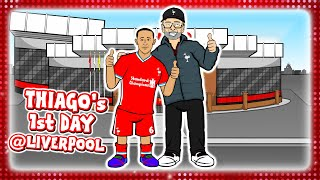 🔴THIAGO's 1st DAY AT LIVERPOOL🔴 (Transfer deal announcement parody)