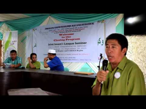 UBAF-Joint Imam's League Seminar for Bicol Region & CARAGA Region