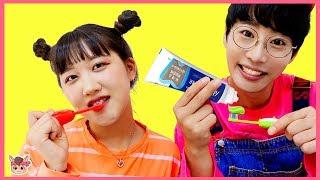 양치놀이 인기 동요 놀이 Brush Your Teeth Nursery Rhymes Song for kids songs & children