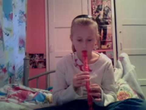 me playing rudolph the red nose reindeer on the recorder!