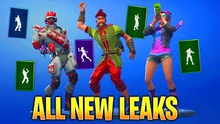 'NEW' LEAKED FORTNITE SKINS et EMOTES! (Vivacious, Hitchhiker, Fist Pump,Battle Call,My Idol!)