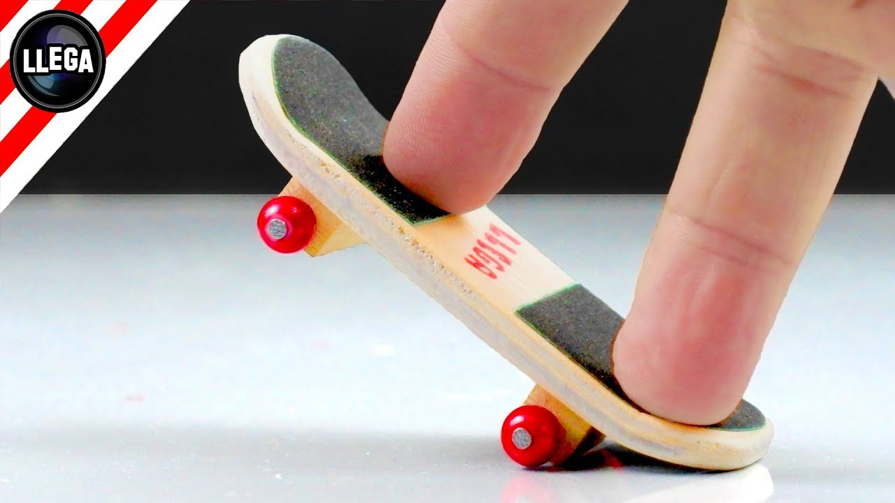 Como Hacer Un Finger Skate o Tech Deck CASERO + Trucos Fáciles