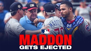 Joe Maddon is Ejected in the Cubs' game against the Pirates