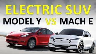 tesla Model Y vs Ford Mach E - Head to Head