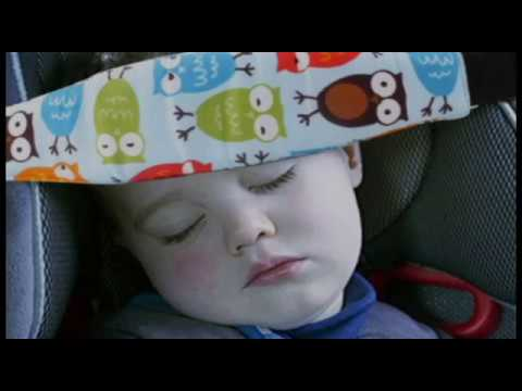 Child Car Seat Head Support - YouTube