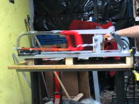 Home made power hacksaw - First run - YouTube