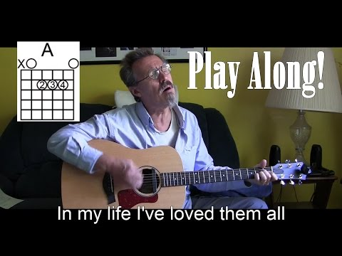 In My Life Acoustic Cover with Lyrics/Chords -  Beatles - P34