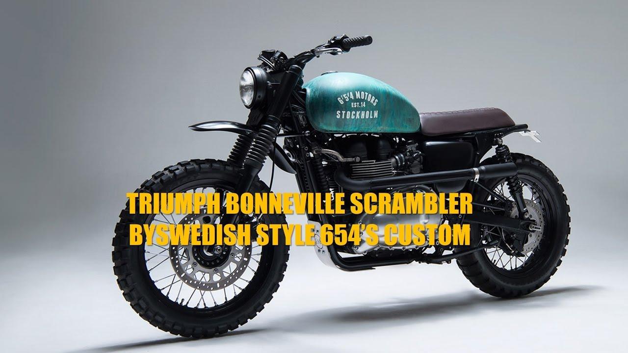 Triumph Bonneville Scrambler By Swedish Style 654s Custom