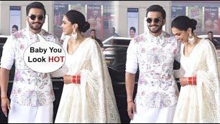 Ranveer Singh FLIRTS With Wife Deepika Padukone At The Airport