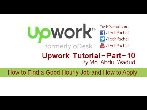How to Find a Good Hourly Job Circular and How to Apply - Upwork Tutorial Part-10
