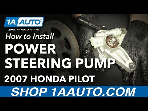 How to Install Replace Power Steering Pump 2005-08 Honda Pilot