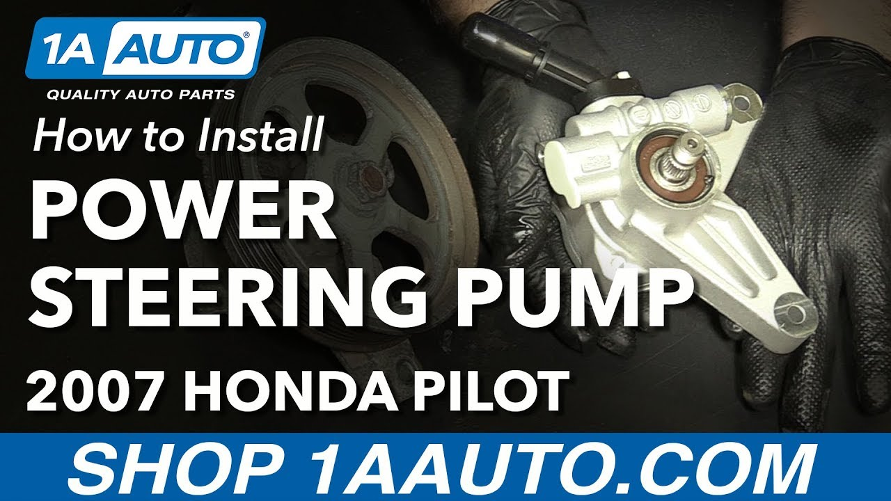 How To Replace Power Steering Pump 05 08 Honda Pilot Youtube