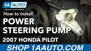 How to Replace Power Steering Pump 05-08 Honda Pilot