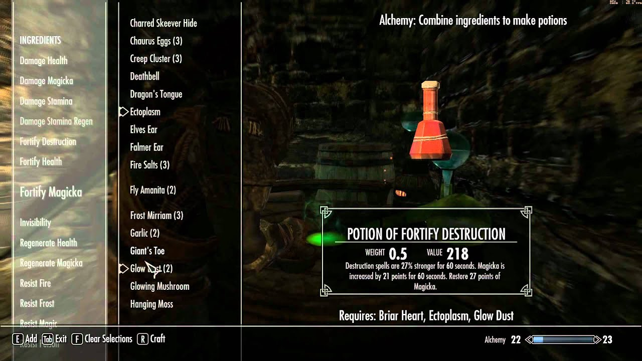 Elder Scrolls V Skyrim Walkthrough In 1080p Part 51 Potion
